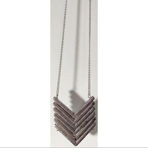 Chevron Silver Necklace